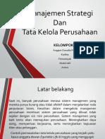 Manajemen Strategi Dan Tata Kelola Perusahaan