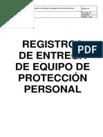 Portada Registro de Equipos de Protección Personal