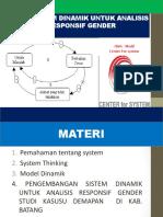 Model Dinamik Untuk Analisis Gender Bandung 23Okt