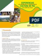 Experiencias Que Contribuyen a La Construcción de Cultura de Paz en El Norte Del Cauca