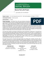 Elysian Park Lofts Project Initial Study