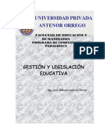 Gestion y Legislación Educativa