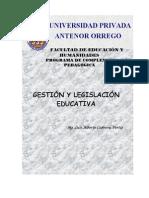 Gestion y Legislación Educativa