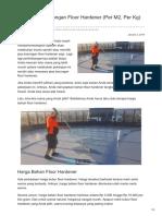 Harga Jasa Borongan Floor Hardener (Per M2, Per Kg) Warna, Cair—☎ 0821 1372 4737