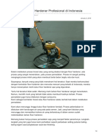 Kontraktor Floor Hardener Profesional di Indonesia—☎ 0821 1372 4737