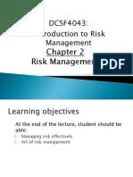 Chapter 2 - Risk Management