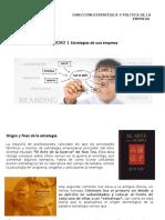 Unidad 1 Direccion Estrategia y Politica Empresarial
