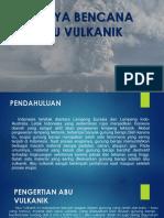 Bahaya Bencana Debu Vulkanik