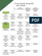 algebra 1 course calendar