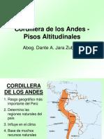 Cordillera de Los Andes y Regiones Naturales