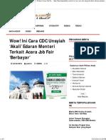 Wow! Ini Cara CDC Unsyiah 'Akali' Edaran Menteri Terkait Acara Job Fair 'Berbayar' – HARIAN MERDEKA