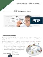 Unidad 1 y 2 Direccion Estrategia y Politica Empresarial
