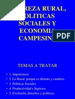 Clases 7 y 8 - Pobreza Rural, Politicas Sociales y Economias Locales