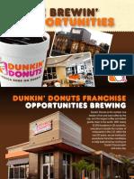 dunkin franchisebrochure