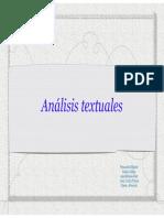 Analisis Textuales. Television. Casetti