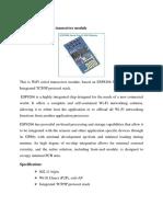 ESP8266 WIFI Serial Transceiver