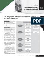 Los programas y proyectos especiales