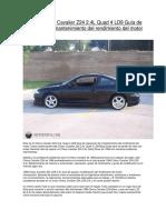Mi 1998 Chevy Cavalier Z24 2_4L Quad 4 LD9 Guía de Reparación de Mantenimiento Del Rendimiento Del Motor