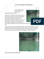Tukang / Aplikator Floor Hardener Profesional—☎ 0821 1372 4737
