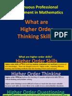 HigherOrderThinkingSkills.ppt