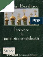 Nikolai Berdiaev_Incercare de Metafizica Eshatologica