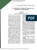 2002-09-Servant Leadership It's Origin, Development, And Application in Organizations