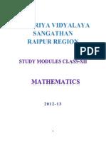 Maths Bhilai Study Material