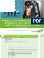 Global Enterprise Unified Communication & Collaboration Market Forecast & Opportunities, 2022_Brochure
