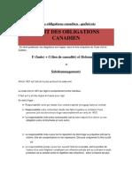 Cours de droit des obligations canadien - québécois.docx
