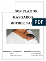 Lesson Plan on Kangroo Mother Care