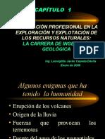 CAPÍTULO 1 La carrera de Ingeniería Geológica