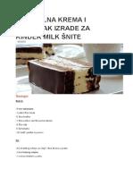 Orginalna Krema i Postupak Izrade Za Kinder Milk Šnite