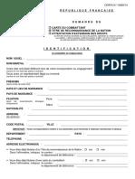 Formulaire Carte Du Cbtt Ou Trn