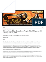 The BAR_ Philippine Digested Cases_ Criminal Case_ Edgar Esqueda vs. People of the Philippines GR 170222, June 18, 2009