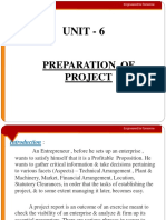 Unit 8 Preparation of Project