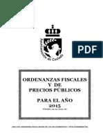 Ordenanzas Fiscales y Precios Publicos 2015 Refundidas