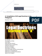 A Compilation of All Legal Doctrines in the Philippines