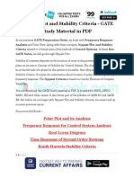 Nyquist Plot and Stability Criteria - GATE Study Material in PDF