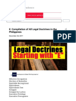 E Compilation of All Legal Doctrines in the Philippines