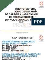 Sistema Obligatorio Calidad en Salud Colombia