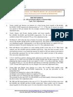 12 Accountancy Ch01 Test Paper 04 Past Adjustments