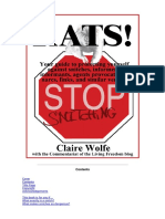 Rats! Your guide to protecting yourself against snitches, informers, informants, agents provocateurs, narcs, finks, and similar vermin By Claire Wolfe.pdf