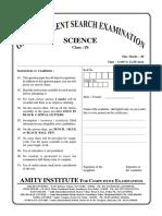 GTSE Online Class IX Science