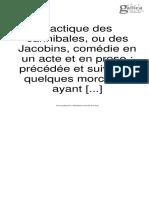 Tactique Des Cannibales, Ou de Jacobins, Comédie en Un Acte Et en Prose