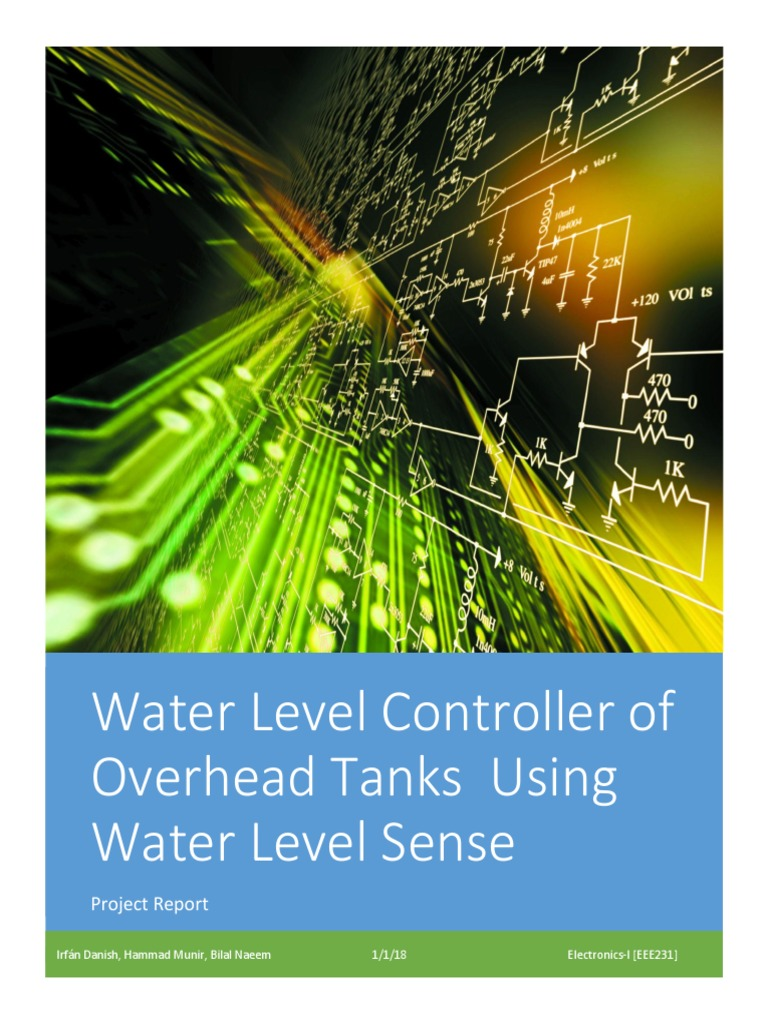 Water Level Controller Of Overhead Tanks Using Dc Relay Driver Circuit Ic Uln2003 Sense Project Report Ultrasound