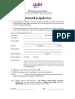 AWAM Membership Form