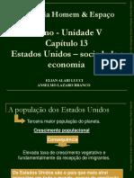 ESTADOS UNIDOS -SOCIEDADE E ECONOMIA.pps