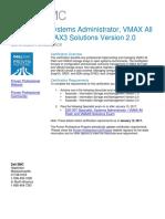 e20-507 - Specialist – Systems Administrator, VMAX All Flash and VMAX3 Solution