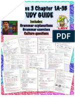 Study Guide Realidades 3 1A to 3B