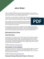 Wiki Information Sheet